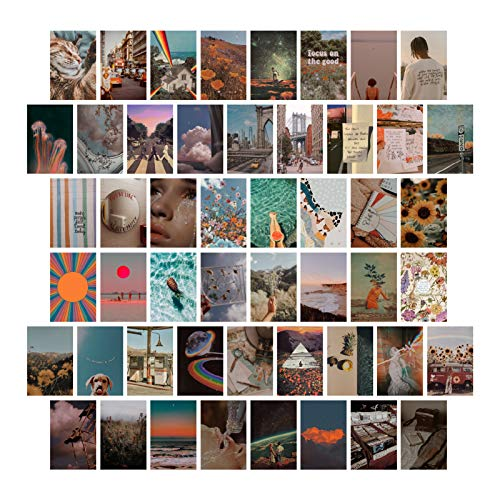 PROCIDA Aesthetic Wall Collage Kit Pictures, Retro 80s Posters for Room Aesthetic, Bedroom Decor Aesthetic, Aesthetic Wall Decor for Teen Girls, Wall Art VSCO Vintage Prints Photo Display for Dorm, 50...