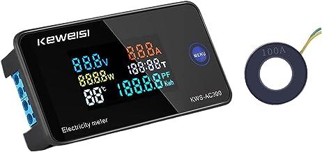 Homyl 6-em-1 medidor de eletricidade energia energia voltímetro watt testador de tempo de tensão - fechado
