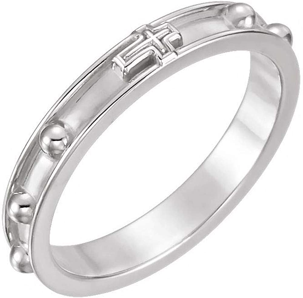 Rosary Ring Band = Width 3.2mm Daily bargain sale High quality
