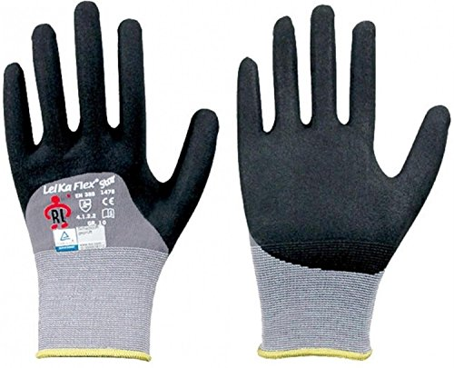 LeiKaFlex 12 x Star Feinstrick Handschuh teilbeschichtet Größe 9