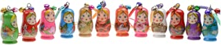 STOBOK Matryoshka Russian Dolls Key Chains Nesting Doll Key Rings for Handbag Mobile Phone Backpack,Pack of 12