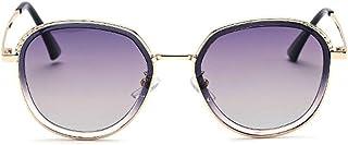 Gafas de sol unisex Gafas de sol de gran tamaño de verano para las vacaciones en la playa para mujeres Gafas de sol con montura metálica para hombres Pesca al aire libre Gafas de sol polarizadas para