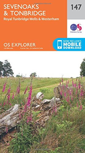 OS Explorer Map (147) Sevenoaks and Tonbridge