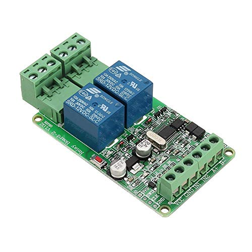 BJLWTQ 2 Channel Switch Input TTL/RS485 Interface Communication 2-way Relay Module Output Driver Modules