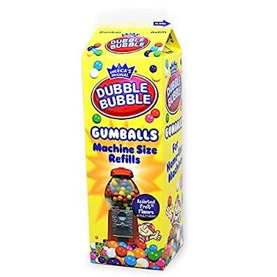 dubble bubble gumballs (refill carton)– 1 box (567 gram) Dubble Bubble Gumballs (Refill Carton)– 1 Box (567 Gram) 51ZYdCi0f9L