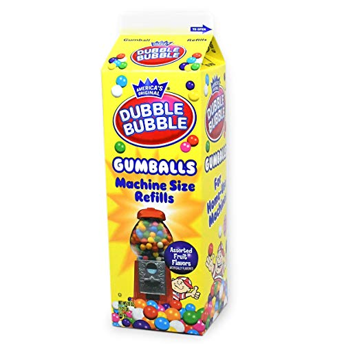 Dubble Bubble Gumball Machine Refill Carton, 20-Ounce Assorted Gumballs