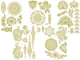 5 Bögen - temporäre Metallic Flash Tattoos - Gold