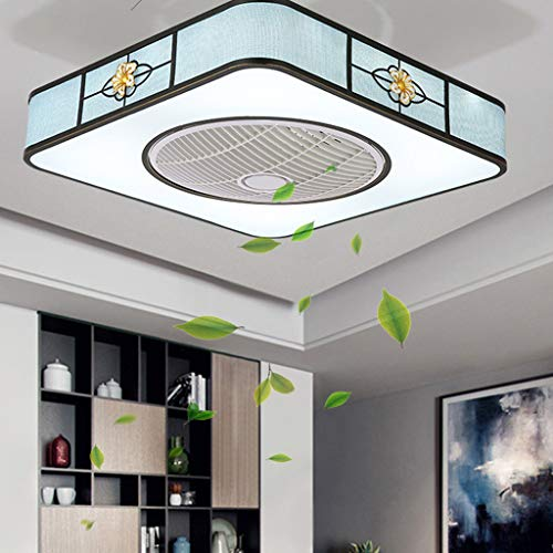 Lámpara de ventilador Luz de ventilador de techo LED con control remoto y función de atenuación 3 aspas Velocidad de viento ajustable Lámpara de ventilador redonda Silencioso