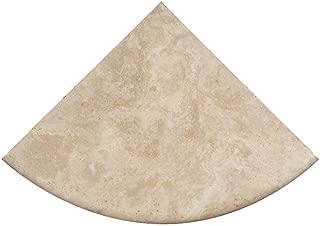 Premium Quality Durango Cream Filled and Honed Ivory Light Travertine Corner Shelf 9'' (1)