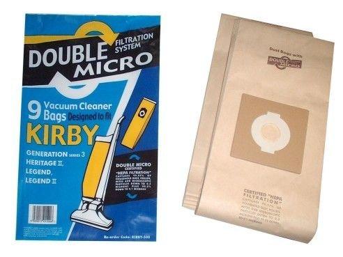 Lot de 9 sacs haute qualité pour aspirateurs Kirby Legend 1 et 2, Heritage 2, Legend 3