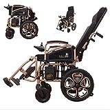 Silla de ruedas eléctrica Silla de ruedas eléctrica plegable, ligera y totalmente plegable, Scooter de cuatro ruedas con aleación de aluminio automática para ancianos, Batería de litio de gran ca