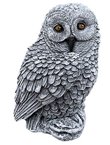 Stone and Style Stone figure owl cast stone frost-proof weatherproof garden figurine.