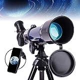 Telescopio Para Niños - Apertura De 50 mm y 360 mm De Longitud Focal - Telescopio Refractario De Astronomía Para Niños Y Principiantes De Astronomía Compacto Portátil, Para Ver el Cielo Estrellado