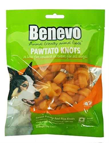 Benevo 12er-VE Veganer Kauknochen für Hunde aus Süßkartoffeln 150g (Nicht Bio)