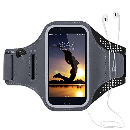 CE-Link Sport Armband iPhone,Android Sportarmband Hülle Handytasche Schweißfest Running Armtasche Reiten Handyhülle für iPhone Samsung Huawei 6.0 Inch - Schwarz
