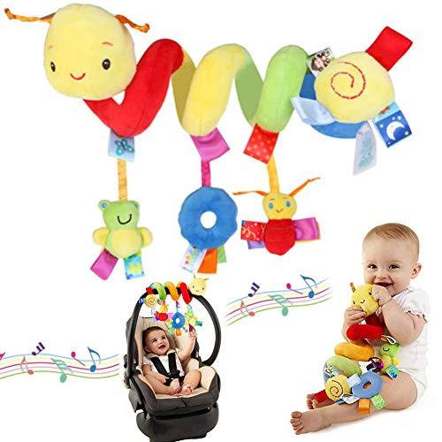 Jouet de poussette Baby Pram Crib - Activité en spirale - Jouet pour bébé ou lit d'enfant