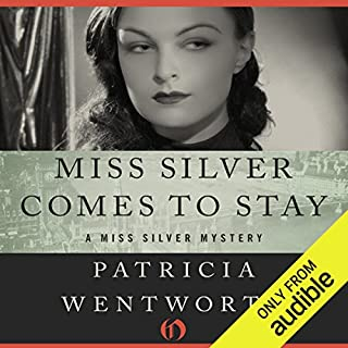 Miss Silver Comes to Stay     Miss Silver, Book 16              Written by:                                                                                                                                 Patricia Wentworth                               Narrated by:                                                                                                                                 Diana Bishop                      Length: 8 hrs     1 rating     Overall 4.0