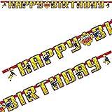 1,8m Partykette * FEUERWEHRMANN SAM * als Deko für Kindergeburtstage oder Mottopartys // Feuerwehr Happy Birthday