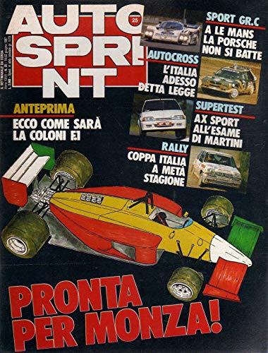 Autosprint 25 giugno 1987 Ayrton Senna, Guy Goutard, Bmw M3 a Zeltweg