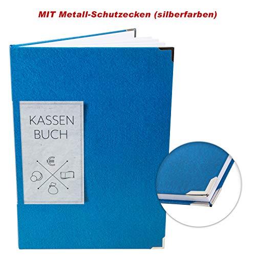 Logbuch-Verlag Kassenbuch ordnungsgemäßes Finanzbuch DIN A4 blau - Hardcover Buch Übersicht über Geld Finanzen Buchhaltung Verein Firma