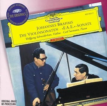 """Brahms: Violin Sonatas Opp.78, 100 & 108; Scherzo from """"F.A.E"""" -Sonata"""