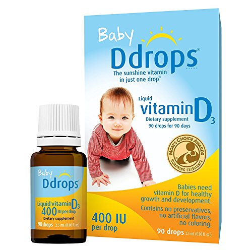 Ddrops Baby 400 IU, Vitamin D, 90 Drops (3 Pack)