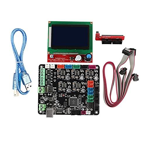 Huhu Stampante Scheda Madre Kit 3D Madre Kit Scheda MKS Base V1.6 + 12864LCD Compatibile con 2560 Mega Ramps1.4 Scheda Base Tool Kit (Color : Red)