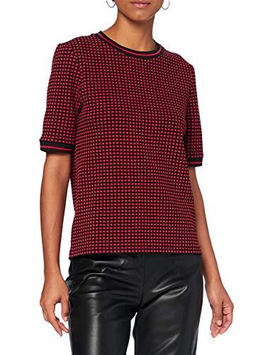 edc by ESPRIT Damen 090CC1K325 T-Shirt, 630/RED, M