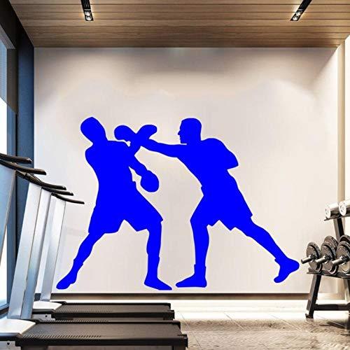 Muurstickers, 42 x 53 cm, twee boxershorts met blauw silhouet, voor het verplaatsen van papierbehang van PVC, decoratie van het huis, modern, waterdicht, zelfklevend, creatief knutselen.