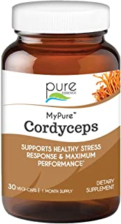 Pure Essence Labs MyPure Cordyceps - Organic Mushroom Supplement - 100% Real Mushroom Extract - Best for Immune Support, S...