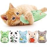 Dorakitten Catnip Toys for Indoor Cats - 5PCS Plush Cat Chew Toys Teething Interactive Catnip Filled Kitten Toy Soft Pet Toy