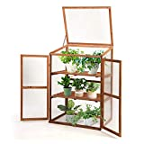 Giantex Wood Cold Frame Garden Greenhouse Raised Bed Protective Planter for Vegetable and...