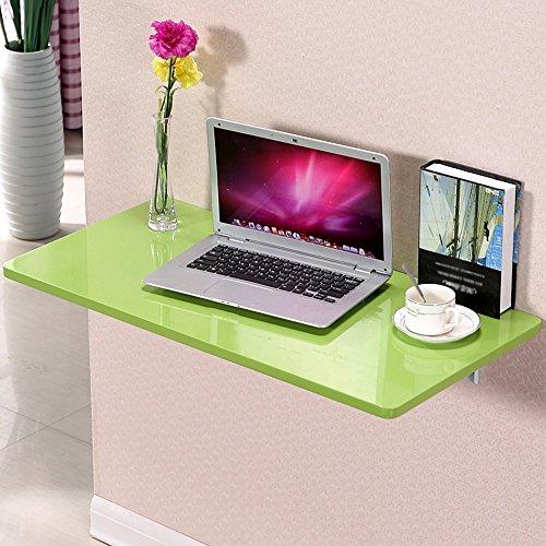 Table Haizhen Poste de travail pour ordinateur pliable mural pour cuisine, bureau, 120 x 40 cm (couleur : vert)