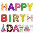 Hercugifts Happy Birthday Yard Sign with Stakes 15 Pieces Weather-Proof Letter Cupcake Birthday Hat Happy Birthday Yard Sign Decorations Outdoor Lawn Decorations Party Decorations