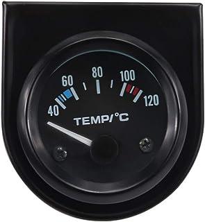 Entweg Round Led Digital,Round Led Digital Car Truck Water Temp Gauge Temperature Sensor Temperatura Moto Voltmeter Volt Voltage Meter 2 in 1 12.0V 24V