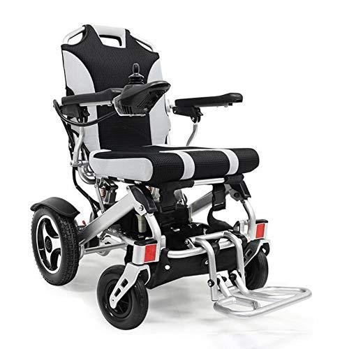 Ultra Portable Folding Power Rollstuhl -360 ° Joystick Control (manuelle/elektrische Dual-Mode-Umschaltung) Falten in einem kleinen Raum für einfachen Transport