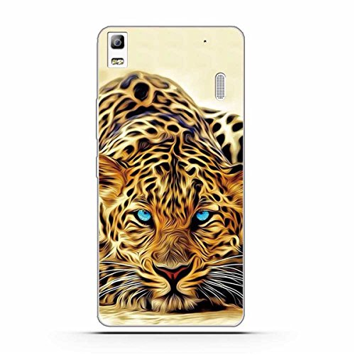 Lenovo K3 Note Case,Gift_Source [Ultra-Slim] Colorful Cute Impact Resistant Bumper Cover Flexible Soft TPU Rubber Silicone Protective Case for Lenovo K3 NOTE/A7000 5.5 inch [Leopard]