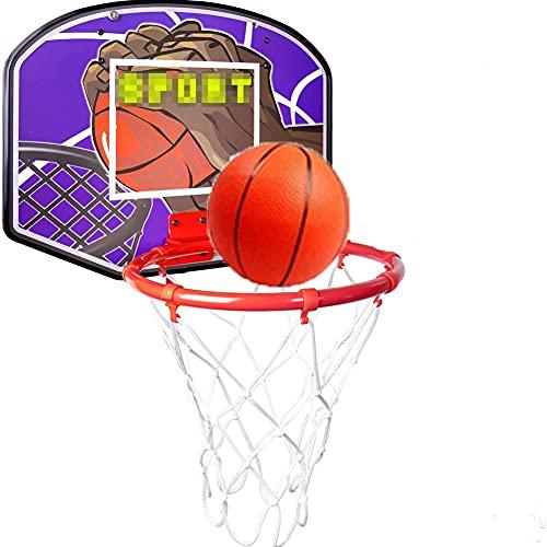 MHCYKJ Aro de baloncesto montado en la pared para interiores y niños, para colgar en la puerta, minijuego para niños y adultos, cesta de la puerta (tamaño pequeño: