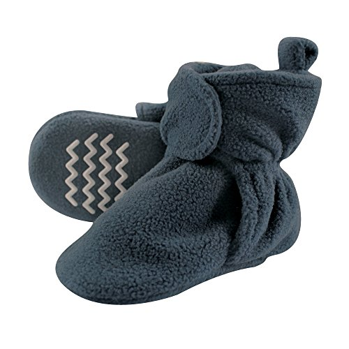 Hudson Baby Unisex Cozy Fleece Booties, Coronet Blue, 6-12 Months