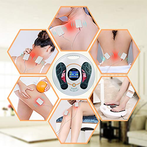 Foot Massager Machine - Newest Feeling from EMS (Electrical Muscle Stimulator) Electric Massage Therapy, Relax Treatment Device for Calf Leg Blood Circulation and Plantar Fasciitis,Feet Medical Care