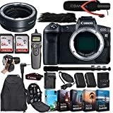 Canon EOS R Mirrorless Digital Camera (Body Only) and Canon Mount Adapter EF-EOS R Bundled + Deluxe Accessories