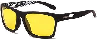 EFXGYHSAQ - Gafas De Sol Hombre Mujeres Ciclismo Gafas De Sol Polarizadas Cuadradas para Hombre Gafas De Sol De Conducción para Hombre Vintage
