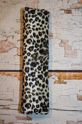 Auto Gurtpolster für Kinder und Erwachsene Kunstfellimitat Leopard