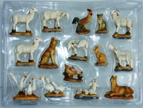 Schafe und Hoftiere, geeignet für 5 bis 7cm Figuren