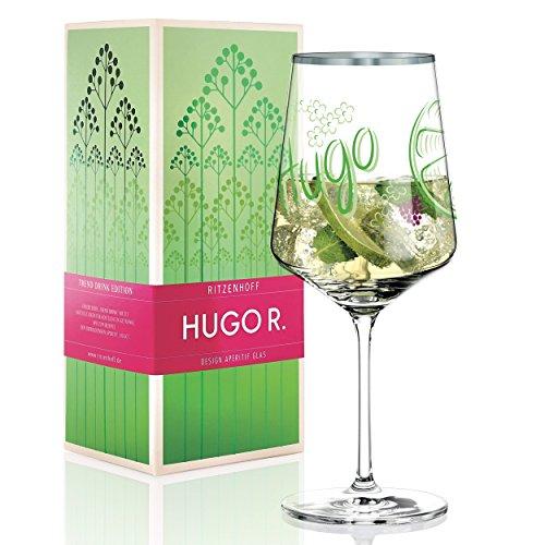 RITZENHOFF Hugo R. Hugo-Glas, Aperitif-Glas von Horst Haben, aus Kristallglas, 600 ml, mit edlen Platinanteilen