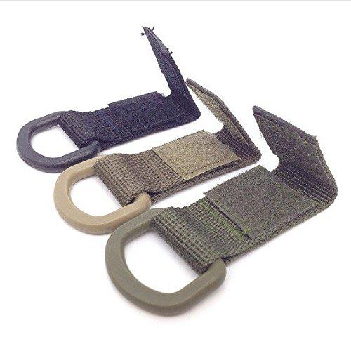 Mangobuy 3 Pcs extérieur Anneau en D Tactique Molle en Toile Boucle Crochet Mousqueton Multifonctions en Toile pour Un Maximum de Travail en Nylon 35 mm