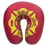 CCGGJPYI Fire Fighters Fire Department Travel Pillow, Sleep with NO Neck Pain, Super Soft Memory Foam Neck Pillow