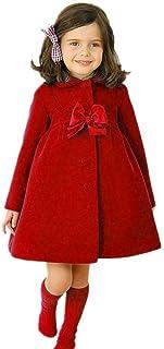 Chaqueta bebé niña, Bebé niñas otoño Invierno Manto Abrigo Chaqueta Ropa de Abrigo 24 Mes - 6 Años
