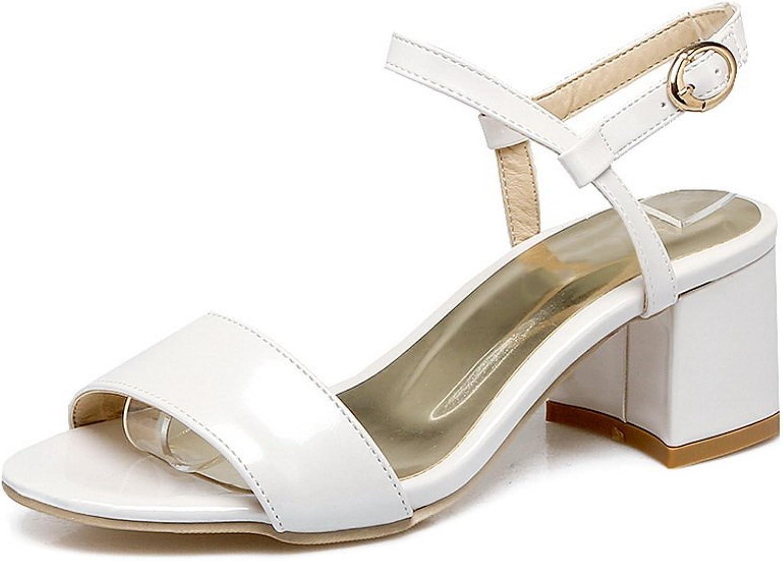 BalaMasa Womens Sandals Peep-Toe Light-Weight Urethane Sandals ASL04754