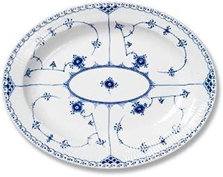 Royal Copenhagen Blue Fluted Half Lace Platter Large